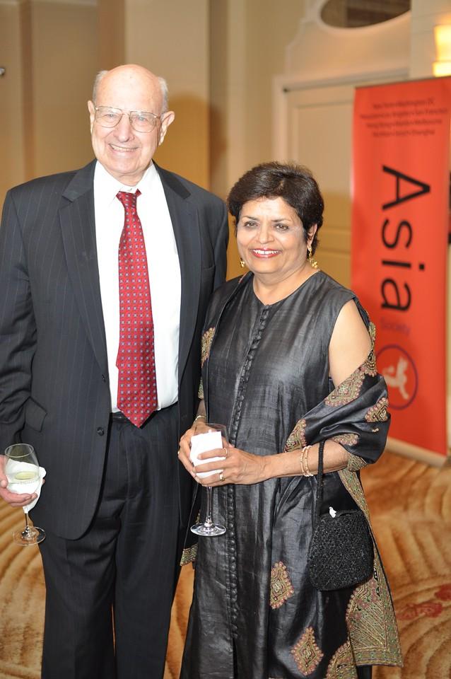 Thomas Pickering, Vishakha Desai, Asia Society Awards Dinner, at the Mandarin Oriental, Tuesday, June 19th, 2012.  Photo by Ben Droz