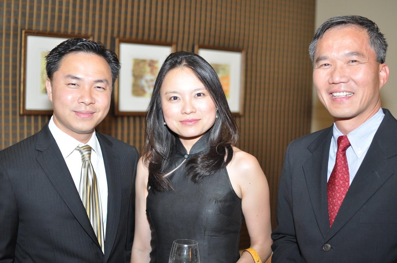 Aikyeow Heng, Li-Shyen Lee, TC Voon,  Asia Society Awards Dinner, at the Mandarin Oriental, Tuesday, June 19th, 2012.  Photo by Ben Droz