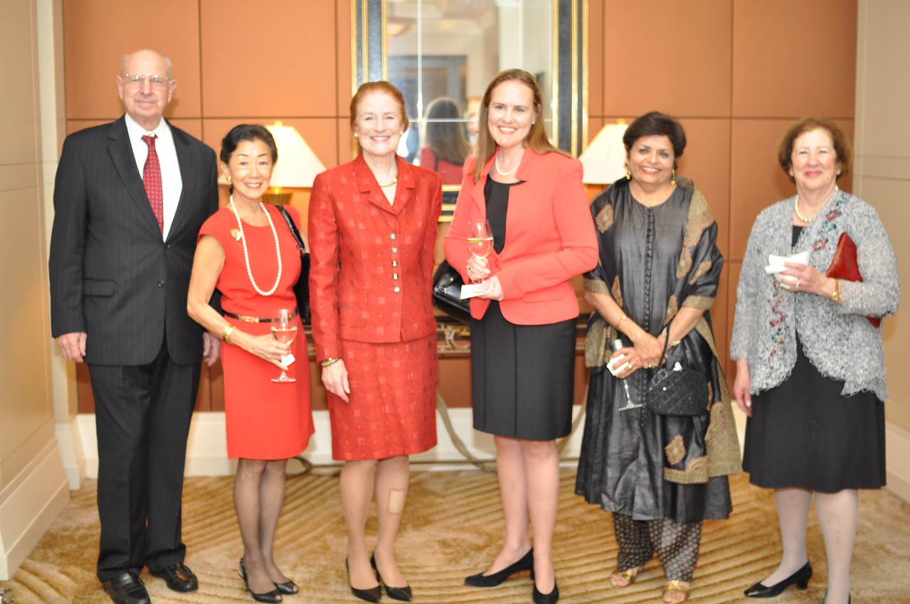 Thomas Pickering, Lulu Wang, Henrietta Fore, Micele Flournoy, Vishakha Desai,  Asia Society Awards Dinner, at the Mandarin Oriental, Tuesday, June 19th, 2012.  Photo by Ben Droz