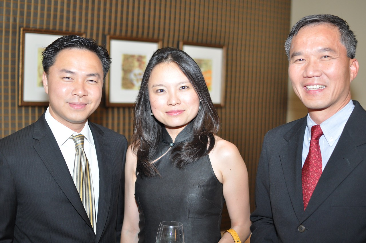 Aikyeow Heng, Li-Shyen Lee, TC Voon,  Asia Society Awards Dinner, at the Mandarin Oriental, Tuesday, June 19th, 2012.  Photo by Ben Droz