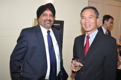 Mejar Singh Gill, TC Voon,  Asia Society Awards Dinner, at the Mandarin Oriental, Tuesday, June 19th, 2012.  Photo by Ben Droz