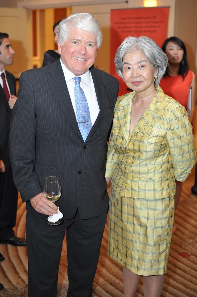 Bob Young, Satsuko Young, Asia Society Awards Dinner, at the Mandarin Oriental, Tuesday, June 19th, 2012.  Photo by Ben Droz