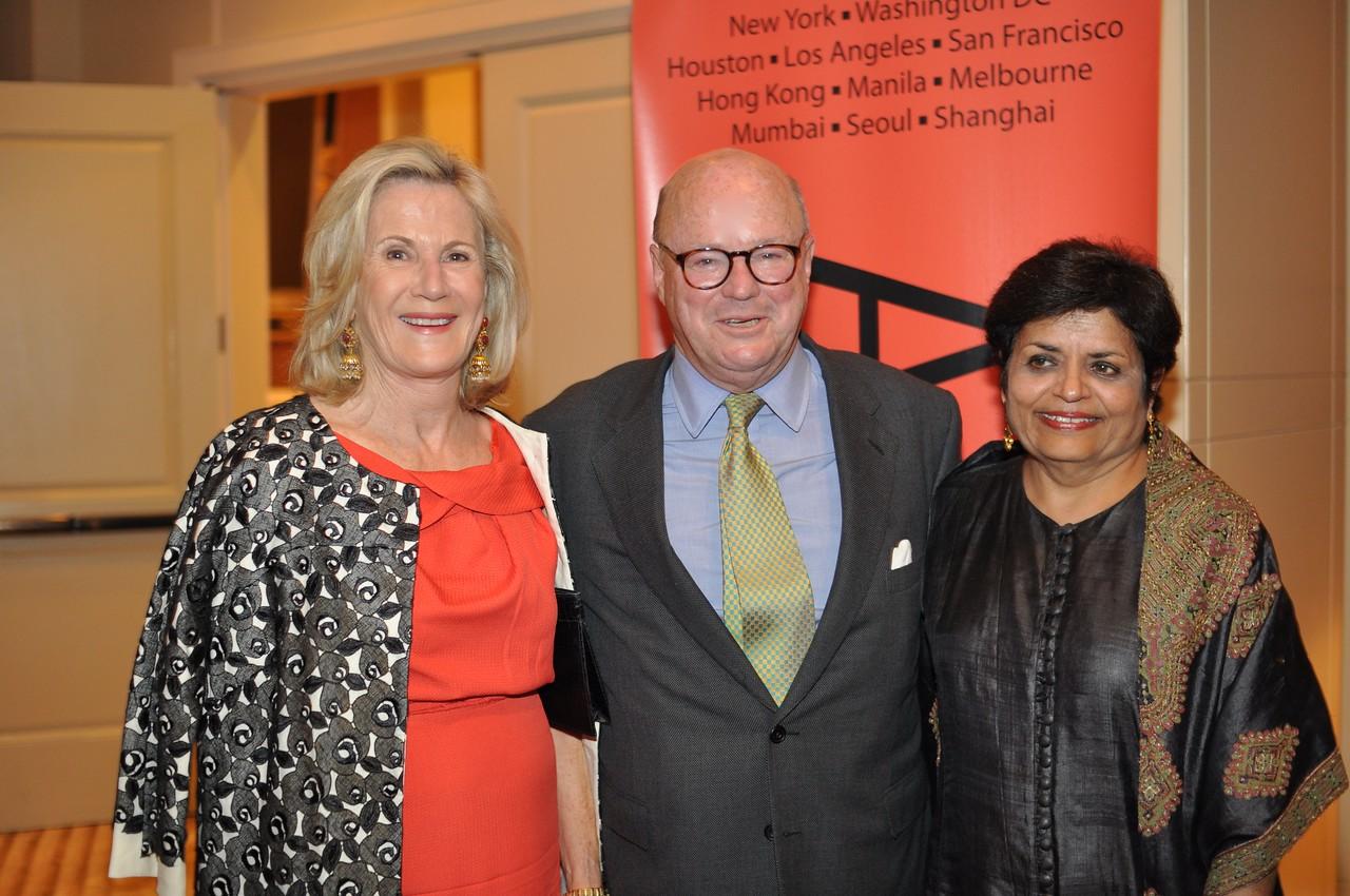 Frank Wisner, Vishakha Desai, Asia Society Awards Dinner, at the Mandarin Oriental, Tuesday, June 19th, 2012.  Photo by Ben Droz