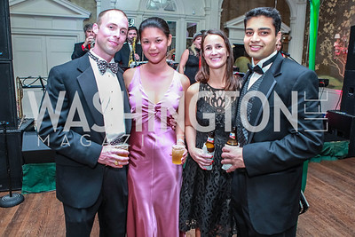 Berend van Roijen, Melanie Tu, Meghan Cook, Devesh Shukla. Bachelors & Spinsters Ball. City Tavern Club. April 21, 2012. Photo by Alfredo Flores