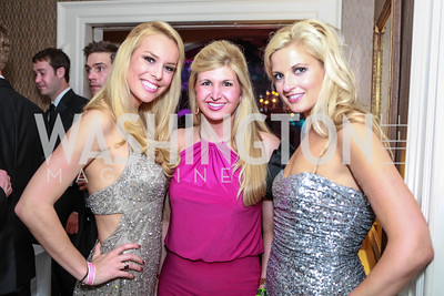 Britt McHenry, Josie Taylor, Krista Johnson. Bachelors & Spinsters Ball. City Tavern Club. April 21, 2012. Photo by Alfredo Flores