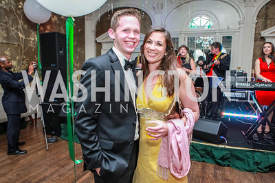 Chris Borgeson, Carissa Maguire. Bachelors & Spinsters Ball. City Tavern Club. April 21, 2012. Photo by Alfredo Flores