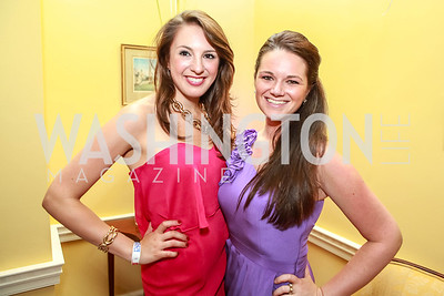 Jessica James Golden, Tristin Monroe. Bachelors & Spinsters Ball. City Tavern Club. April 21, 2012. Photo by Alfredo Flores