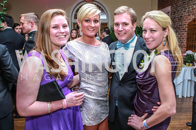Allie Kunzig, Colleen Leineweber, Tom Adrian, Florie Knauf. Bachelors & Spinsters Ball. City Tavern Club. April 21, 2012. Photo by Alfredo Flores