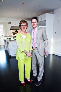 Sheila Mooney, Trent Heminger. Beasley 100 Reception. Photo by Tony Powell. 2501 Penn penthouse. September 13, 2012