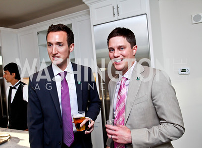 Kevin Gray, Trent Heminger. Beasley 100 Reception. Photo by Tony Powell. 2501 Penn penthouse. September 13, 2012