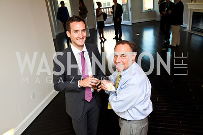 Kevin Gray, Marc Satrazemis. Beasley 100 Reception. Photo by Tony Powell. 2501 Penn penthouse. September 13, 2012
