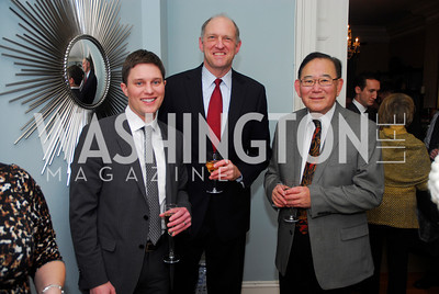 Trent Heminger, Brent Cantley, Alden Kamikawa, February 8, 2012, Beasley Real Estate Launch Party, Kyle Samperton