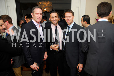 Greg Busch, Dave Klimas, Kurt Reischick, February 8, 2012, Beasley Real Estate Launch Party, Kyle Samperton