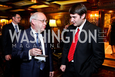 Arthur Corazzini, Sean Vann. Beasley and Bonhams Reception. Georgetown Club. March 5, 2012. Photo by Tony Powell