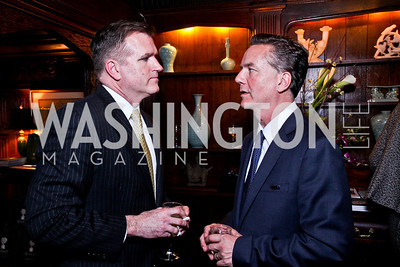 Jim Bell, Martin Gammon. Beasley and Bonhams Reception. Georgetown Club. March 5, 2012. Photo by Tony Powell