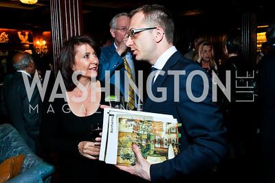 Joyce Tarantino, Pawel Rydz. Beasley and Bonhams Reception. Georgetown Club. March 5, 2012. Photo by Tony Powell