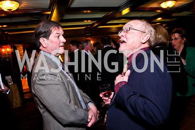 Brian Wilkins, John Carlin Ryan. Beasley and Bonhams Reception. Georgetown Club. March 5, 2012. Photo by Tony Powell