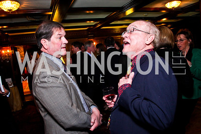 Brian Wilkins, John Carlin Ryan. Beasley and Bonhams Reception. Georgetown Club. March 5, 2012. Photo by Tony Powell