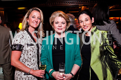 Angela Newman, Sharon Casey, Suzanne Doud Galli. Beasley and Bonhams Reception. Georgetown Club. March 5, 2012. Photo by Tony Powell
