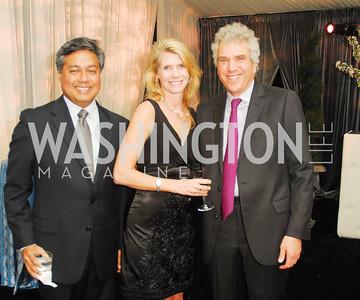 Prem Devadas,Donna Devadas,David Rubin,March 31,2012, Benefit for Inova Healthy Generations held at Salamader Farm,Kyle Samperton