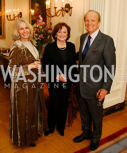 "Sally Quinn,Liz  Stevens,George Stevens,November 8,2012,book party  for ''American Lady"" at the Residence of the French Ambassador,Kyle Samperton"