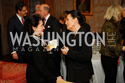 "Marta Istomin,Catherine Albertini,November 8,2012,book party  for ''American Lady"" at the Residence of the French Ambassador,Kyle Samperton"