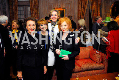 "Lucky Roosevelt,Ann Hand,Sophie L'Hellas Delattre,Buffy Cafritz,November 8,2012,book party  for ''American Lady"" at the Residence of the French Ambassador,Kyle Samperton"