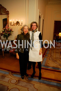 "Nina Pillsbury,Sophie L'Hellas Delattre,November 8,2012,book party  for ''American Lady"" at the Residence of the French Ambassador,Kyle Samperton"