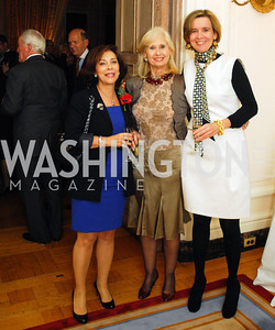 "Lady Westmacott, Willee Lewis,Sophie L'Hellas Delattre,November 8,2012,book party  for ''American Lady"" at the Residence of the French Ambassador,Kyle Samperton"
