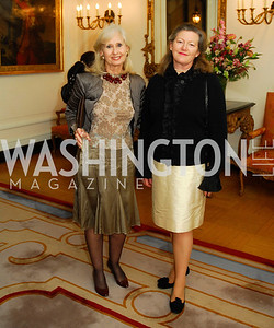 "Willee Lewis, Amanda Downes,November 8,2012,book party  for ''American Lady"" at the Residence of the French Ambassador,Kyle Samperton"