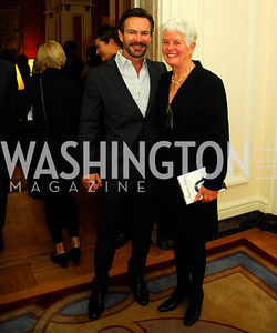 "Rob Brown, Deedy Ogden,November 8,2012,book party  for ''American Lady"" at the Residence of the French Ambassador,Kyle Samperton"