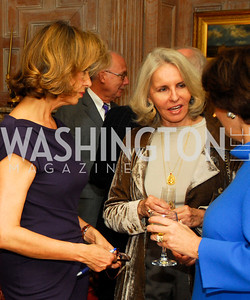 "Caroline De Margerie, Sally Quinn,Sally Bedell Smith,November 8,2012,book party  for ''American Lady"" at the Residence of the French Ambassador,Kyle Samperton"