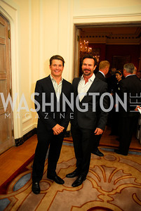 "Todd Davis,Rob Brown,November 8,2012,book party  for ''American Lady"" at the Residence of the French Ambassador,Kyle Samperton"