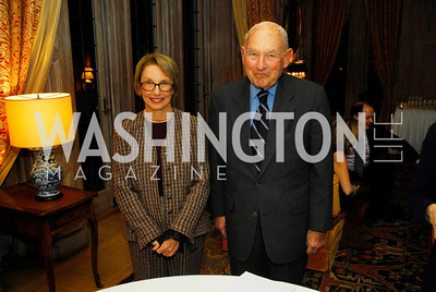 "Audrey Wolf,James Weinstein,November 8,2012,book party  for ''American Lady"" at the Residence of the French Ambassador,Kyle Samperton"