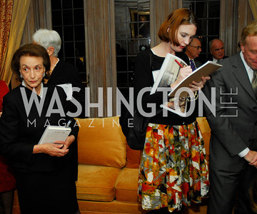 "Lucky Roosevelt, Stephanie Green,November 8,2012,book party  for ''American Lady"" at the Residence of the French Ambassador,Kyle Samperton"