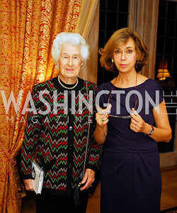 "Sylvia Blake,Caroline De Margerie,November 8,2012,book party  for ''American Lady"" at the Residence of the French Ambassador,Kyle Samperton"