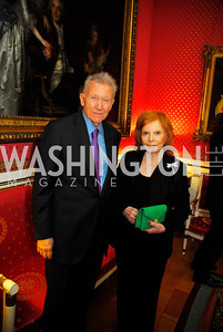 "Jim Hoagland, Buffy Cafritz,November 8,2012,book party  for ''American Lady"" at the Residence of the French Ambassador,Kyle Samperton"