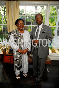 Dept .Amb. Edith Hazel,Amb.Daniel Ohen Agyekum,,July 11,2012,Book Party for Vice -President John Dramani Mahama,'' My First Coup D'Etat''