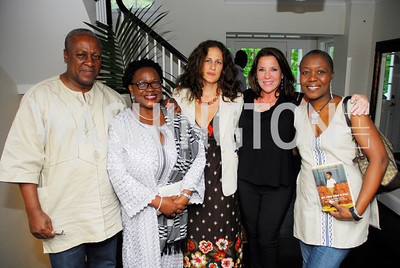 President John Dramani Mahama of the Republic of Ghana, Deputy Amb.Edith Hazel,Julia Cohen,Kimball Stroud,Meri Nana-Ama Danquah,July 11,2012,Book Party for Vice -President John Dramani Mahama,'' My First Coup D'Etat''