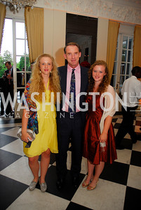 Natasha Howes,Maj.Gen. Buster Howes,Olivia Howes,July 27,2012,British Embassy Hosts Opening Ceremony Reception for the 2012 Olympics at the Residence of The British Ambassador,Kyle Samperton