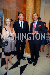 Tracey Churchill,Col.Richard Smith,Andrew Churchill,,July 27,2012,British Embassy Hosts Opening Ceremony Reception for The 2012 Olympics at The Residence of The British Ambassador,Kyle Samperton