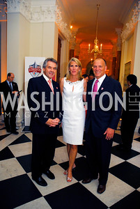 Sir Peter Westmacott,Alison McSlarrow,Kyle McSlarrow,,July 27,2012,British Embassy Hosts  Reception for the Opening Ceremony of the 2012 Olympics At The Residence of The British Ambassador,Kyle Samperton