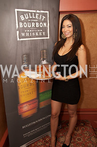 Kriscia Palacios. Tom Bulleit, founder of Bulleit Bourbon, hosts a tasting party at the Georgetown Club.  Photo by Ben Droz.