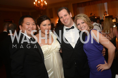 Michael Abejuela, Quin Woodward Pu, Jeff Barger, Victoria Rawlings, Capital City Ball, The Washington Club in Dupont, Saturday November 17, 2012, Photo by Ben Droz.