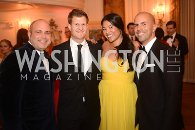 "William Begal, Nick Tanana, Alexandra ""Kulap"" Russell, James Guzman, Capital City Ball, The Washington Club in Dupont, Saturday November 17, 2012, Photo by Ben Droz."