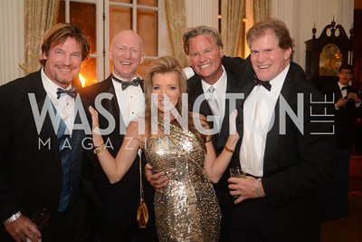 Jim Doan, Jon Dunford, Jeff Linney, Michael Kinklaar,  Capital City Ball, The Washington Club in Dupont, Saturday November 17, 2012, Photo by Ben Droz.