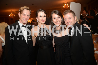 Casey Dobyns, Masha Casey, Dana Zelman, Charles Taret, Capital City Ball, The Washington Club in Dupont, Saturday November 17, 2012, Photo by Ben Droz.