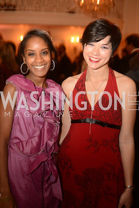 Gloria Powell, Cassis Pitman,  Capital City Ball, The Washington Club in Dupont, Saturday November 17, 2012, Photo by Ben Droz.