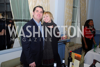 Joe DelBazo,Erin Hollrah,January 19,2012,Capital Wine  Festival Kick-Off at the Fairfax Hotel,Kyle Samperton
