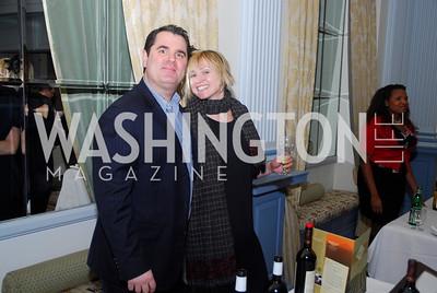 Joe DelBazo,Erin Hollrah,January 19,2012,Capital Wine  Festival Kick-Off at the Fairfax Hotel,Kyle Samperton
